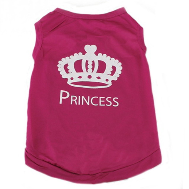 Cat Dog Shirt / T-Shirt Tiaras & Crowns Casual / Daily Fashion Dog Clothes Rose Costume Terylene XS S M L
