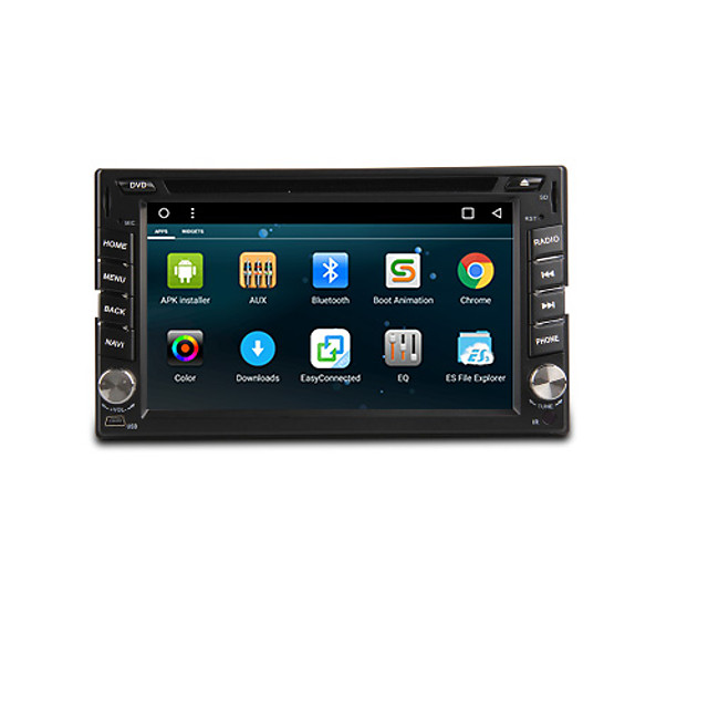 TH8081GNC 6.2 inch 2 DIN Android6.0 In-Dash Car DVD Player DAB for universal Support / DVD-R / RW / DVD+R / RW / AVI / MPEG4 / CD