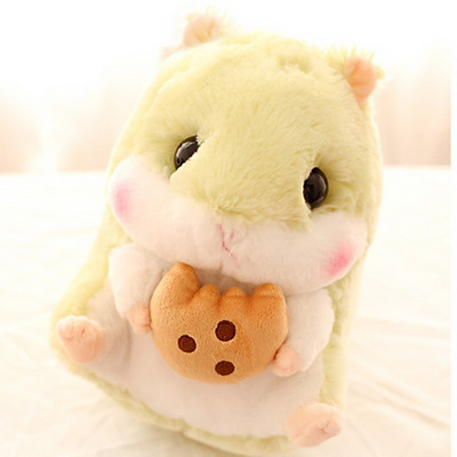 Stuffed Animal Pillow Plush Toys Plush Dolls Rabbit Cartoon Hamster lifelike Adorable Desk Decoration Imaginative Play, Stocking, Great Birthday Gifts Party Favor Supplies Boys and Girls Adults Kids