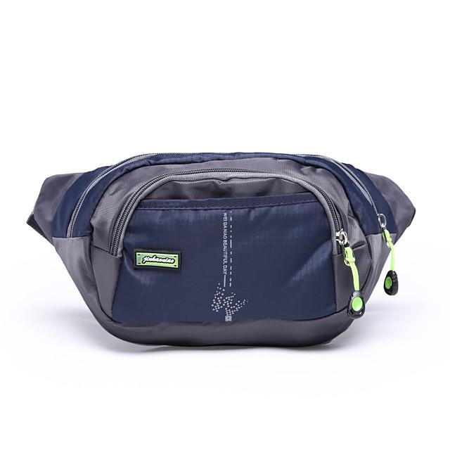 3 L Waist Bag / Waistpack Multifunctional Outdoor Purple Dark Navy Fuchsia