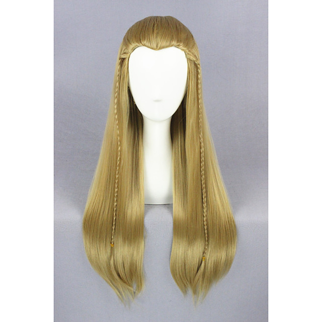 Synthetic Wig Straight Straight Wig Medium Length Brown Synthetic Hair Brown