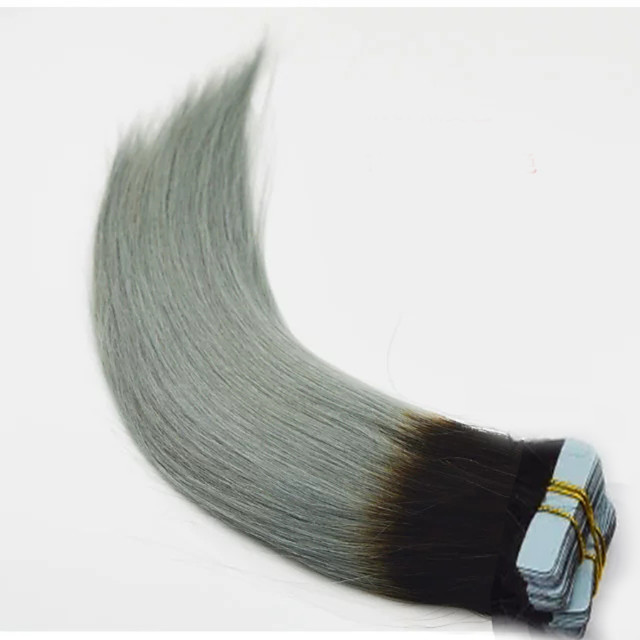 Tape In Hair Extensions Remy Human Hair Human Hair Pack Straight Ombre Hair Extensions