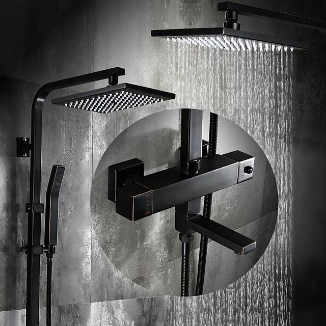 Shower Faucet - Antique Oil-rubbed Bronze Centerset Ceramic Valve Bath Shower Mixer Taps