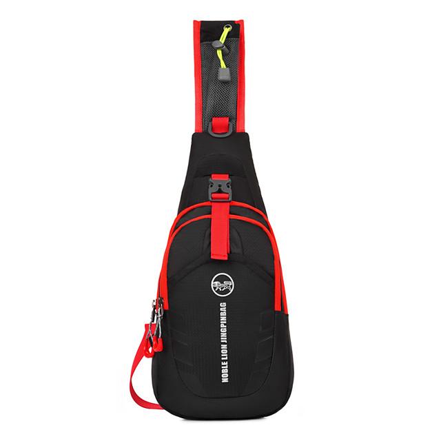 Shoulder Messenger Bag Running Pack 15 L for Camping / Hiking Leisure Sports Traveling Sports Bag Multifunctional Waterproof Wearable Running Bag