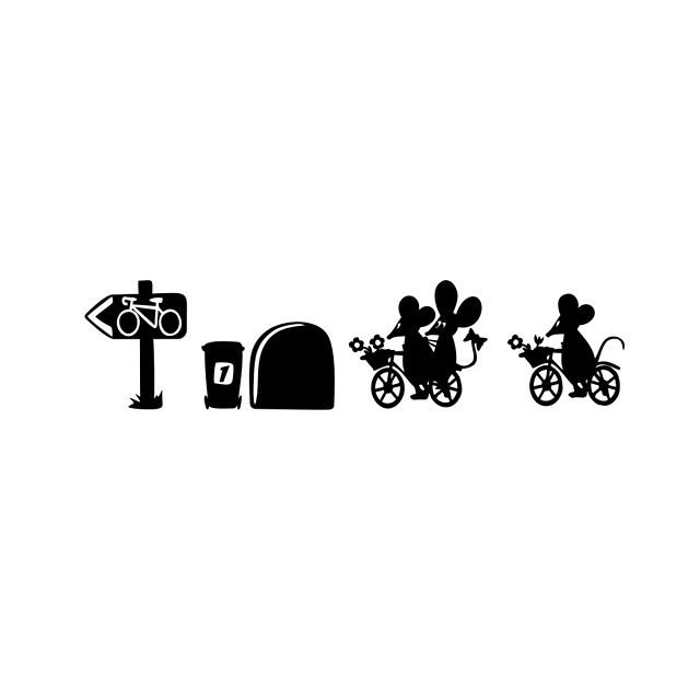 Životinje / Crtani film / Sportske Zid Naljepnice Zidne naljepnice Dekorativne zidne naljepnice, Vinil Početna Dekoracija Zid preslikača Zid / Staklo / Kupaonica Ukras 1set