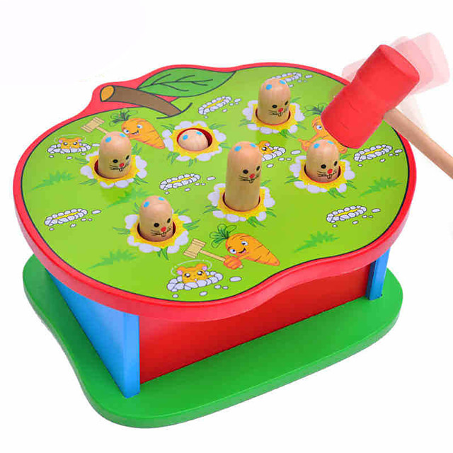 1 pcs Gopher Game Whac-a-mole Wood Fun Parent-Child Interaction Kid's Toys Gifts