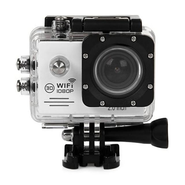 SJ7000 Gopro Gopro & Accessories Outdoor Recreation vlogging Waterproof / Multi-function / WiFi 64 GB 60fps 12 mp 1280x960 Pixel 2 inch CMOS H.264 Burst Mode 45 m -1/3 / USB / Anti-Shock / LED
