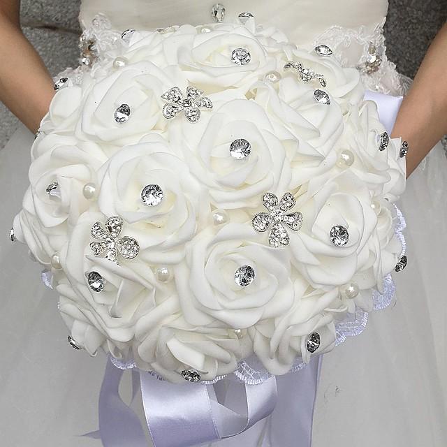Wedding Flowers Bouquets Wedding Bead / Rhinestone / Foam 11.02