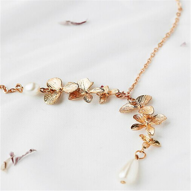 Women's Choker Necklace Drop Personalized Dangling Pendant Imitation Pearl Imitation Pearl Chrome Gold Necklace Jewelry For Party Special Occasion Daily Casual