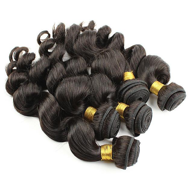 Peruvian Hair Body Wave Remy Human Hair Natural Color Hair Weaves / Hair Bulk Human Hair Weaves Human Hair Extensions / Short