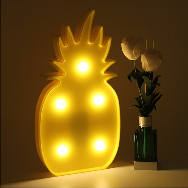 3d levou luz noturna abacaxi night lamp candeeiro de mesa romântico marquise home natal decor bateria levou nightlight