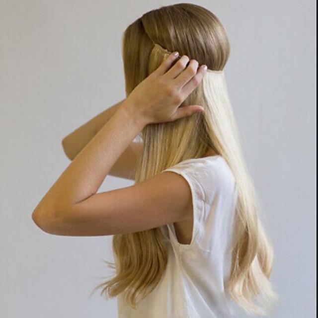 Flip In Human Hair Extensions Straight Remy Human Hair Auburn