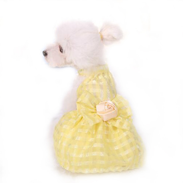 Chica De Mascotas Perro Gato Amarillo Rosa Azul Vestido de Disfraz Traje de Disfraz de princesa con volantes