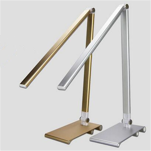 Metal Desk Lamp Eye Protection Table Lamp Golden Silvery Modern Contemporary Home Office 220V