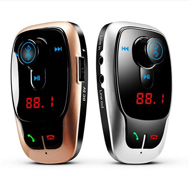 X9 Car MP3 Player Bluetooth V2.1 Handsfree Kit Call Wireless FM Modulator TF Card 2 Port Black Dual USB Charger for Music Talking