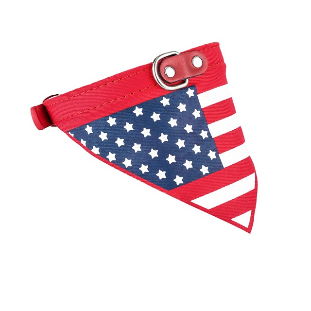 Cat Dog Necklace Bandanas & Hats Puppy Clothes Flag Party Cowboy Casual / Daily Dog Clothes Puppy Clothes Dog Outfits Red Costume for Girl and Boy Dog PU Leather Fabric XS S M L