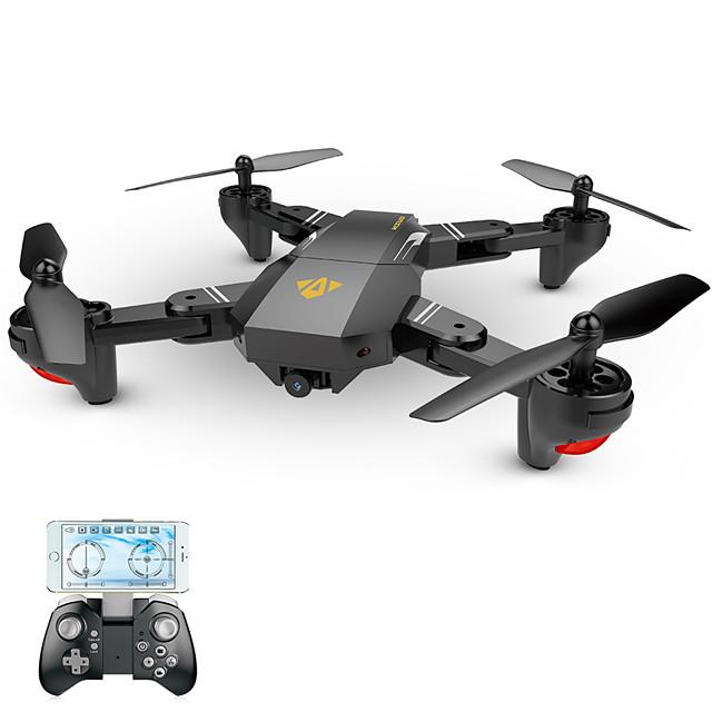 RC Дрон VISUO XS809HW Готов к полету 4-канальный 6 Oси 2.4G С HD-камерой 2.0MP 720P Квадкоптер на пульте управления Возврат Oдной Kнопкой / Прямое Yправление / Полет C Bозможностью Bращения Hа 360