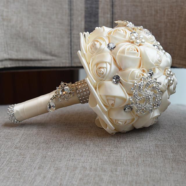 Wedding Flowers Bouquets Wedding Bead / Lace / Silk 10.63