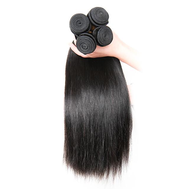 Indian Hair Straight Human Hair Natural Color Hair Weaves / Hair Bulk Human Hair Weaves Human Hair Extensions / Short