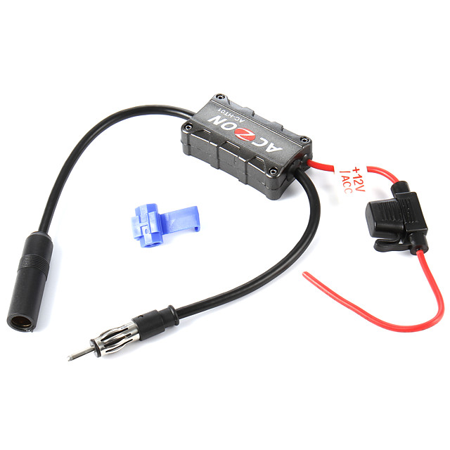 12V Acc high quality Stable Vehicles Car Radio FM Antenna Amplifier Booster for Both AM and FM Radio Stations