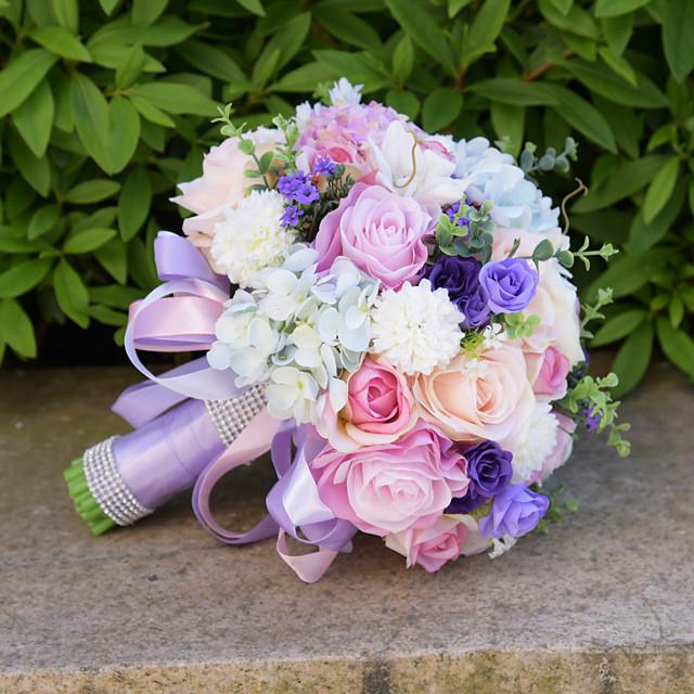 Wedding Flowers Bouquets Wedding Bead / Lace / Silk 10.24