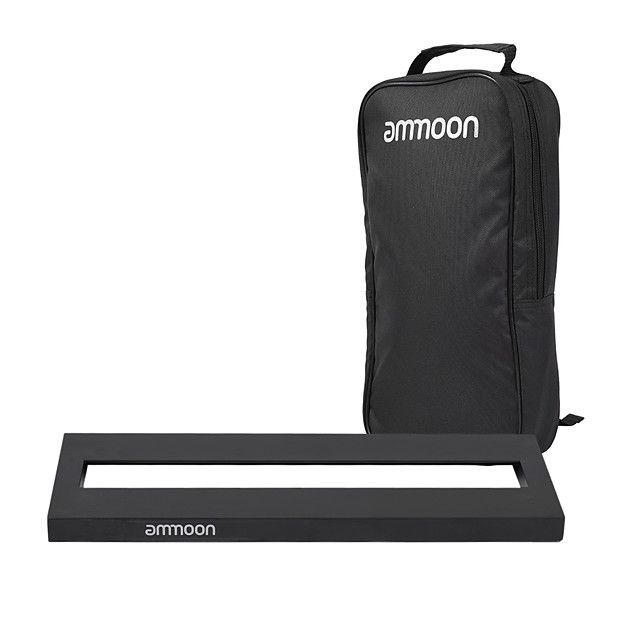 Ammoon DB-1 Mini Aluminum Alloy Guitar Pedal Board with Carrying Bag Tapes