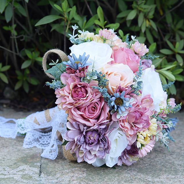 Wedding Flowers Bouquets Wedding Bead / Lace / Silk 11.8