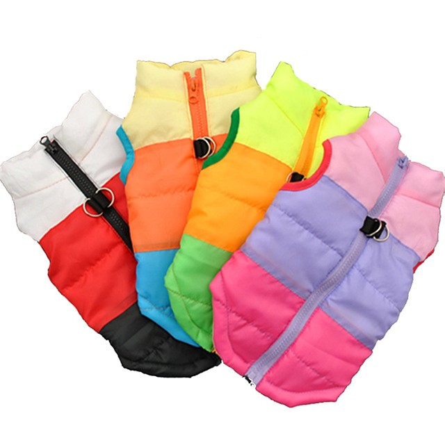 Cat Dog Coat Shirt / T-Shirt Sweater Color Block Party Casual / Daily Keep Warm Outdoor Winter Dog Clothes Black Fuchsia Blue Costume Cotton XS S M L