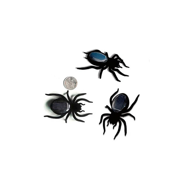 Solar Powered Toy Insect Spider Solar Powered DIY ABS Teen Party Favors, Science Gift Education Toys for Kids and Adults / 14 years+