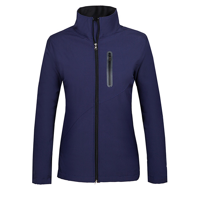 Women's Hiking Softshell Jacket Hiking Jacket Winter Outdoor Thermal / Warm Waterproof Windproof Fleece Lining Fleece Softshell Jacket Top Violet Red Dark Blue Camping / Hiking Hunting Fishing S M L