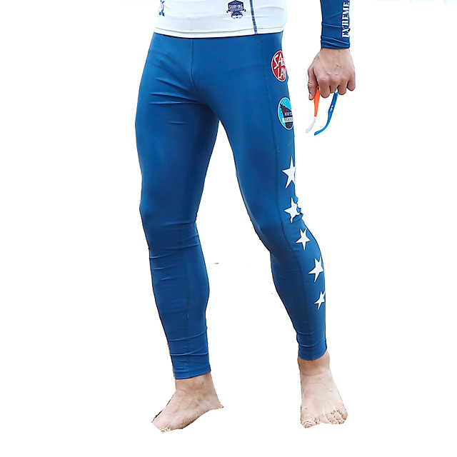 SABOLAY 남성용 다이브 스킨 레깅스 보트, 자외선 방지 엘라스틴 / 테릴린 수영복 비치 웨어 하단 스페셜 디자인 수영