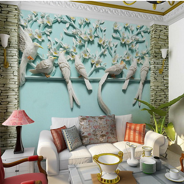 Pattern Home Decoration Modern Wall Covering, Non-woven fabric Material Adhesive required Mural, Room Wallcovering