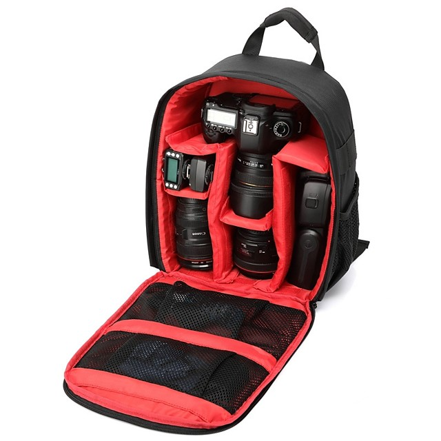 Multi-functional Camera Lens Backpack Video Digital DSLR Bag Waterproof Outdoor Camera Photo Bag Case for Nikon Canon DSLR
