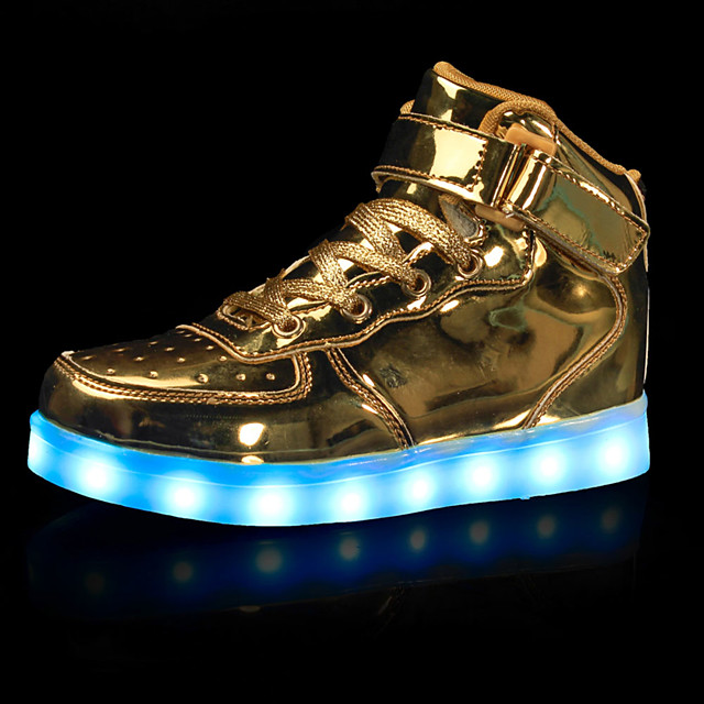 Boys' LED / LED Shoes / USB Charging Leatherette Sneakers Little Kids(4-7ys) / Big Kids(7years +) Walking Shoes Hook & Loop / LED / Luminous White / Black / Red Fall / Winter / Rubber / EU39