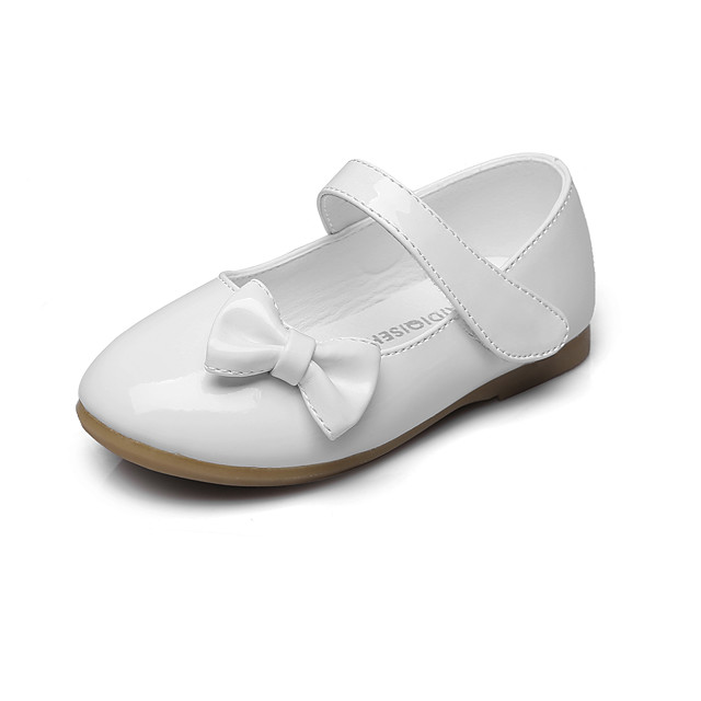 Girls' Comfort / Flower Girl Shoes / Children's Day Leatherette Flats Little Kids(4-7ys) / Big Kids(7years +) Bowknot / Magic Tape White / Black / Red Spring / Fall / Wedding / Party & Evening / EU37