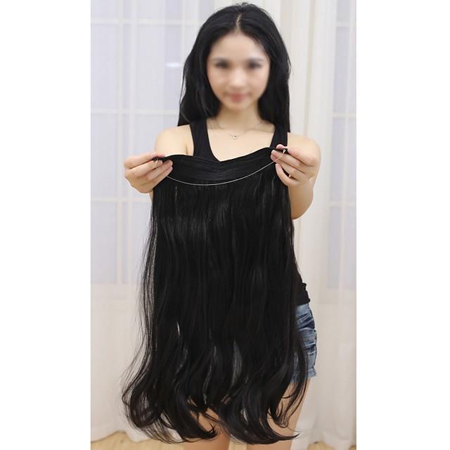 Flip In Human Hair Extensions Classic Human Hair Human Hair Extensions Halo Extensions Women's Medium Brown