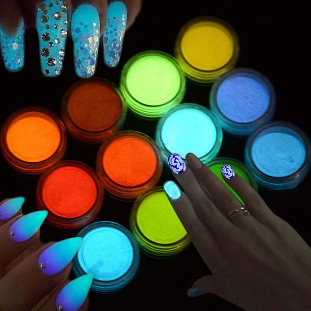 1pc Glitter Powder Sparkle & Shine Luminous Acrylic Powder Glitter Powder for