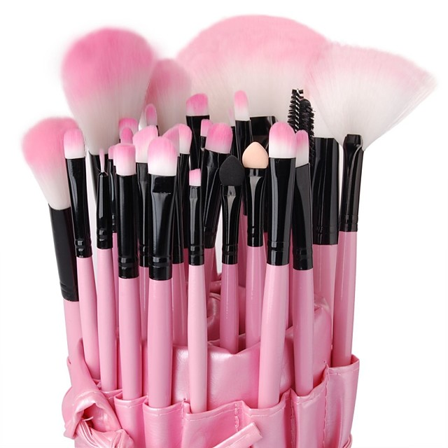 Professional Makeup Brushes Makeup Brush Set 32pcs High Quality Makeup Brushes for Eyeshadow Concealer Powders Blush Cosmetic & Makeup Bag Foundation Brush Lip Brush