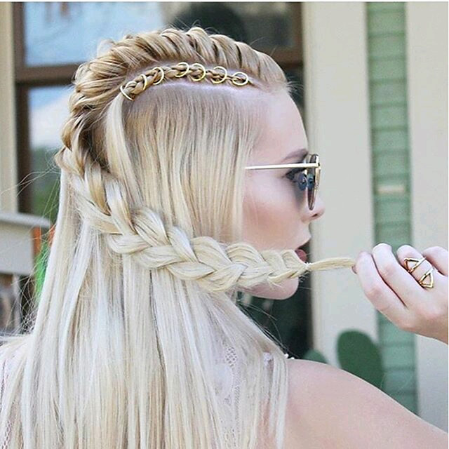 Wig Accessories Metal Braiding Beads Daily Classic Golden Silver