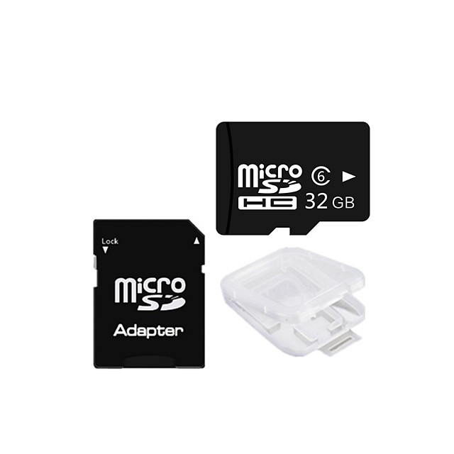 Ants 32GB Class 6 MicroSDHC TF Memory Card and MicroSDHC to SDHC Adapter Card Protecter Box