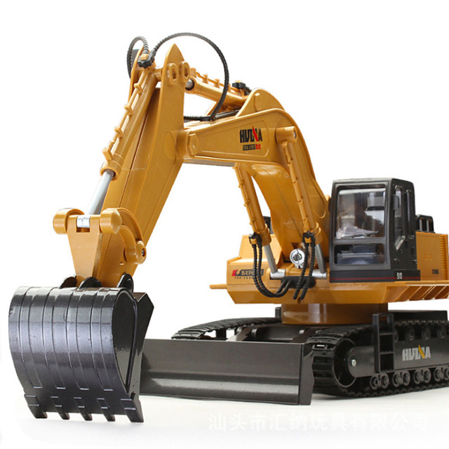 RC Car HUINA 1510 11 Channel 2.4G Excavator 1:16 Rechargeable / Remote Control / RC / Electric