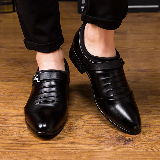 Men's Dress Shoes Fall / Winter Business / Classic Daily Party & Evening Office & Career Oxfords PU Wear Proof White / Black / EU40