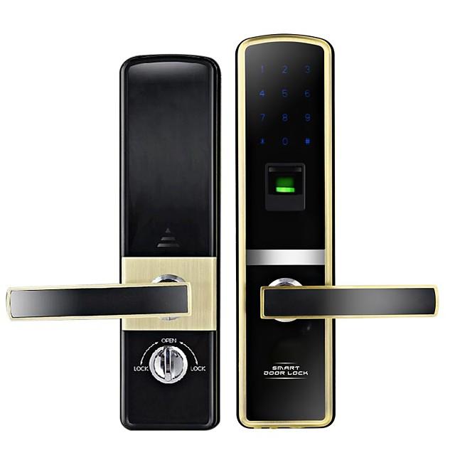 Zinc Alloy Intelligent Lock Smart Home Security System Low battery reminder / Anti peeping password / Random security code settings Home / Apartment / Hotel Security Door / Copper Door / Wooden Door