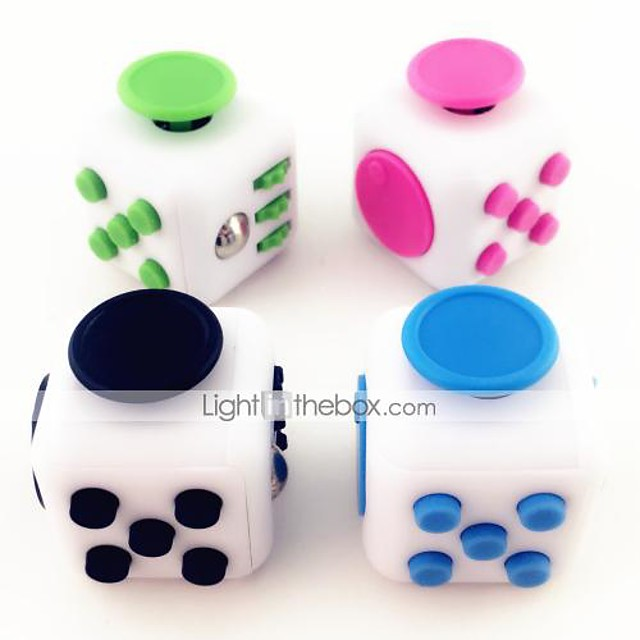 White Fidget Cube Finger Hand Top Magic Squeeze Puzzle Cube Work Class Home EDC ADD ADHD Anti Anxiety Stress Reliever 1Pc