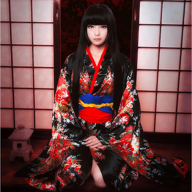 Inspired by Hell Girl Ai Enma Anime Cosplay Costumes Cosplay Suits Lolita Collar / Bow / Kimono Coat For Women's Halloween Costumes