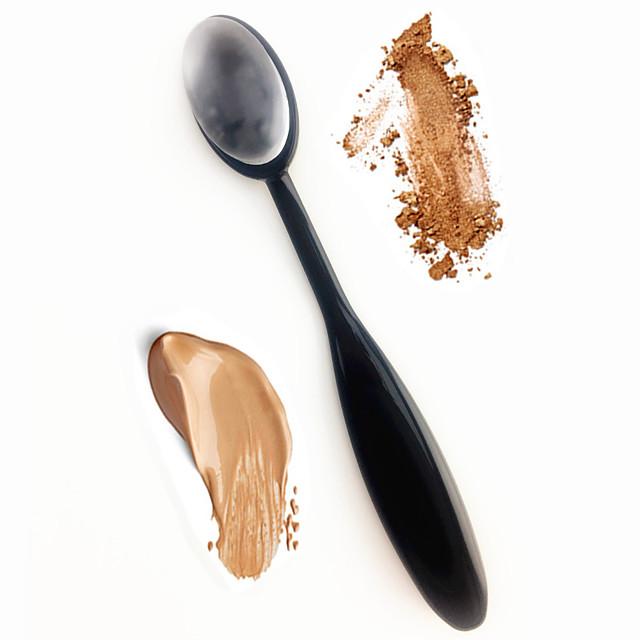 1pc Blush Brush Eyeshadow Brush Concealer Brush Powder Brush Foundation Brush Contour Brush Silicone Professional Plastic Full Body Women