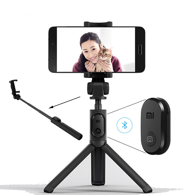 Xiaomi Foldable Tripod Monopod Selfie Stick Bluetooth With Wireless Button Shutter Selfie Stick For iOS/Android/Xiaomi