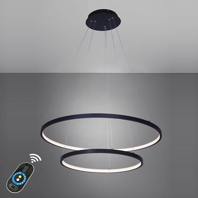 Ecolight™ 2-Light 60(24'') LED Pendant Light Metal Acrylic Circle Painted Finishes Modern Contemporary 110-120V 220-240V