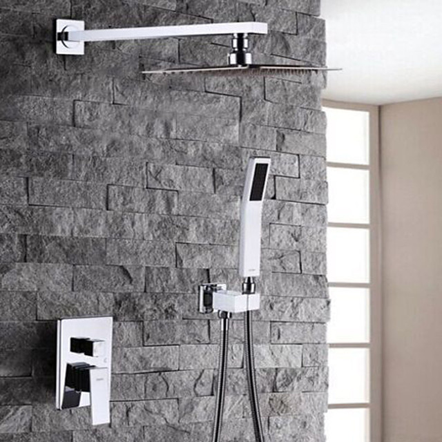 Shower Faucet - Modern Contemporary Chrome Shower System / Brass