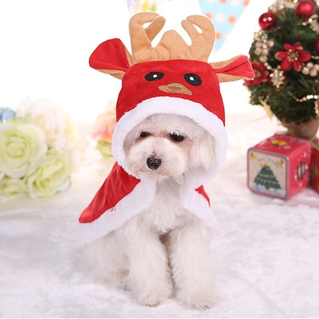 Dog Coat British Christmas Winter Dog Clothes Puppy Clothes Dog Outfits Red Costume for Girl and Boy Dog Cotton XS S M L XL